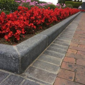Flamed Limestone Kerbs