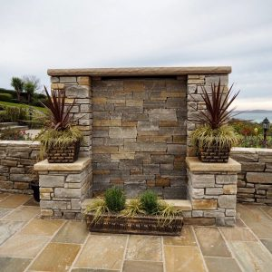 Gold and Silver Quartzite Building Stone