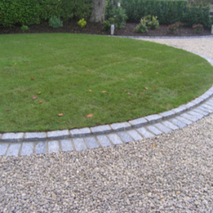 Silver Granite Cobble Edging