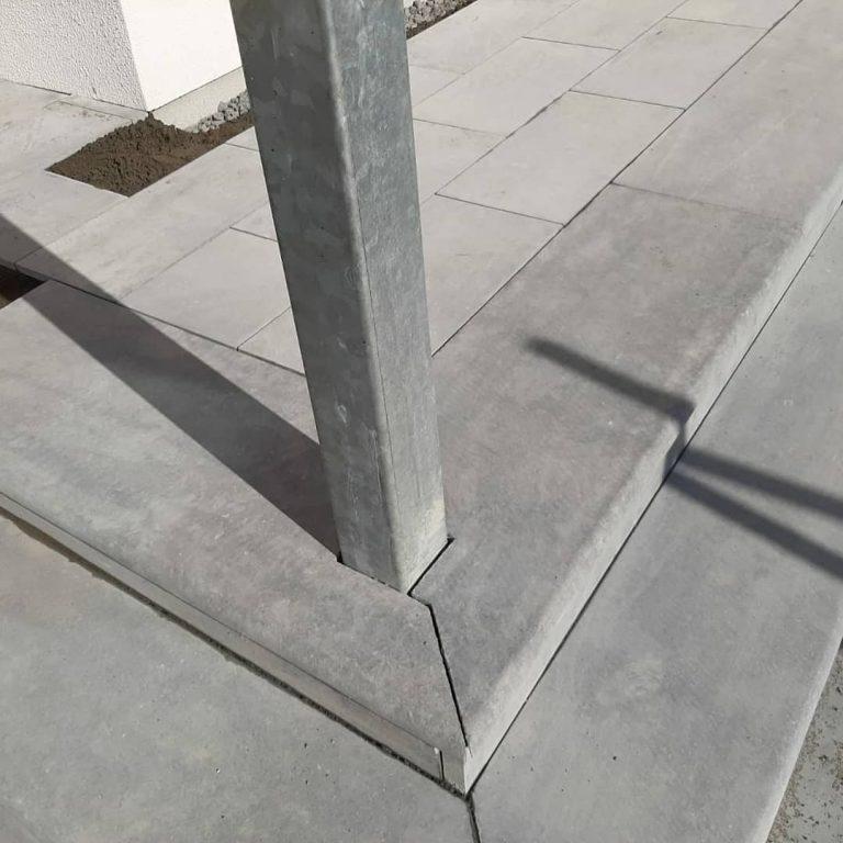 Sanded Limestone Steps